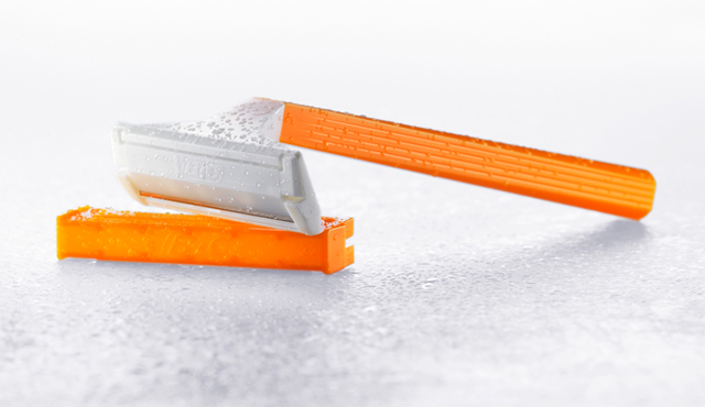 orange disposable razor